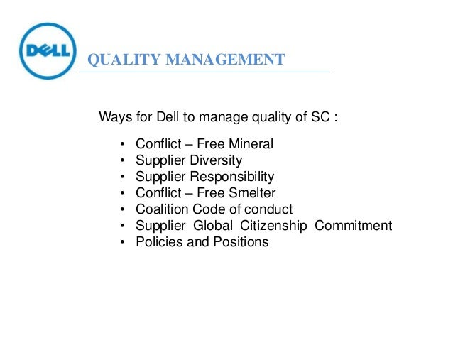 the supply chain of dell computers essay Essays dell supply chain analysis dell realize a supply chain with high variety customizing the computers.