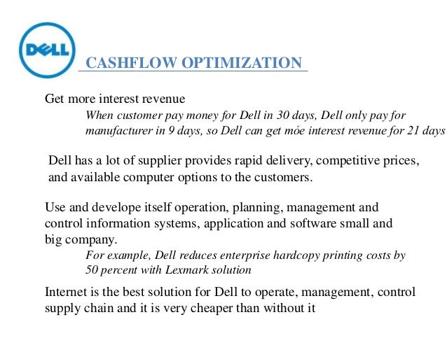 dell computer corporation share repurchase program essay Dell computers essays (examples)  in 1988, the organization changed its name to dell computer corporation and tried selling its pcs through stores, a few years later, in 1990 the latter move was, however, unsuccessful and they reverted to selling their products directly to their clients  with our share repurchase programs announcement.