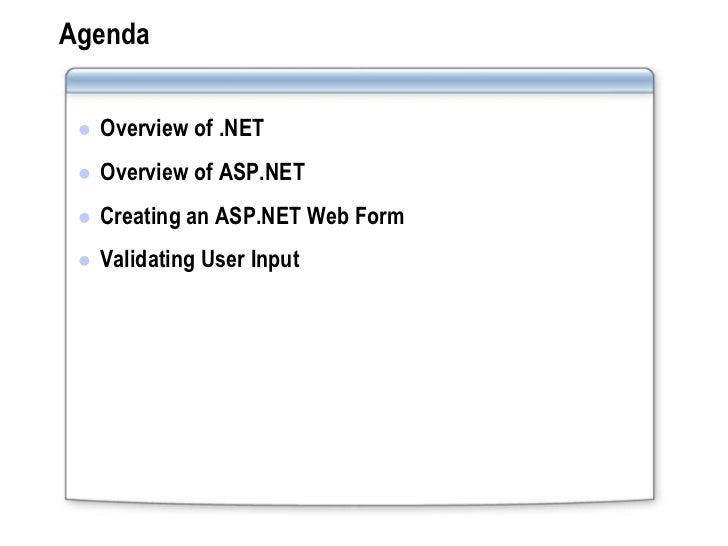 Developing an aspnet web application