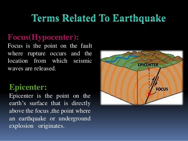 what is an earthquake epicenter and focus