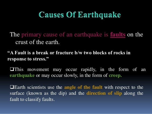 essay on how an earth quake occurs Earthquakes are natural ground motions caused as the earth releases energy the science of earthquakes is seismology, study of shaking in scientific greek earthquake energy comes from the stresses of plate tectonics as plates move, the rocks on their edges deform and take up strain until the.