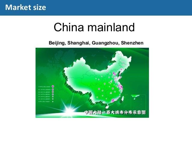 China mainland Beijing, Shanghai, Guangzhou, Shenzhen Market size