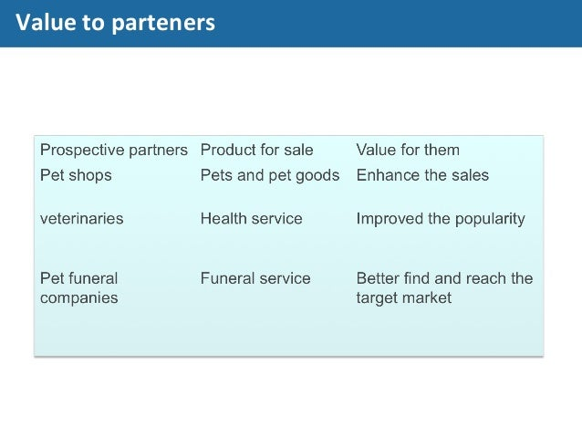 Value to parteners