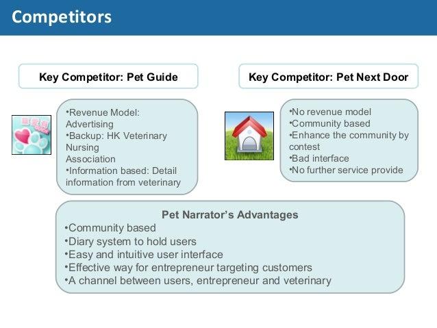 Key Competitor: Pet Guide Key Competitor: Pet Next Door •Revenue Model: Advertising •Backup: HK Veterinary Nursing Associa...