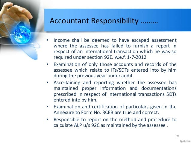accountant responsibility