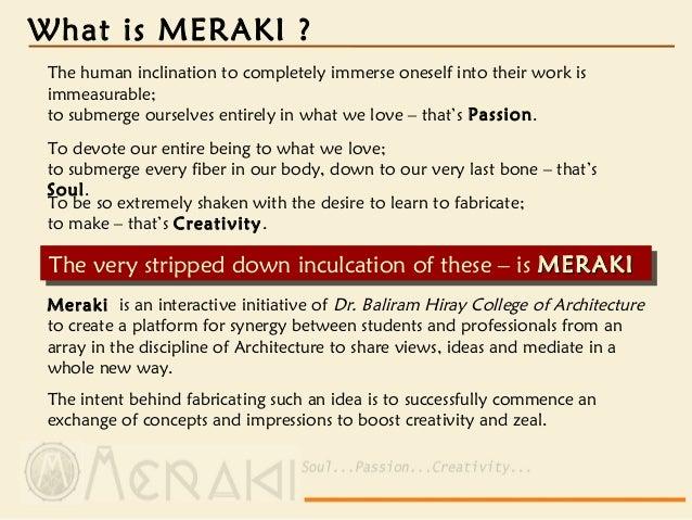 MERAKI-14 (Architecture and more)