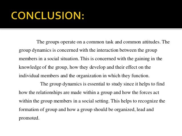 Improving Group Dynamics