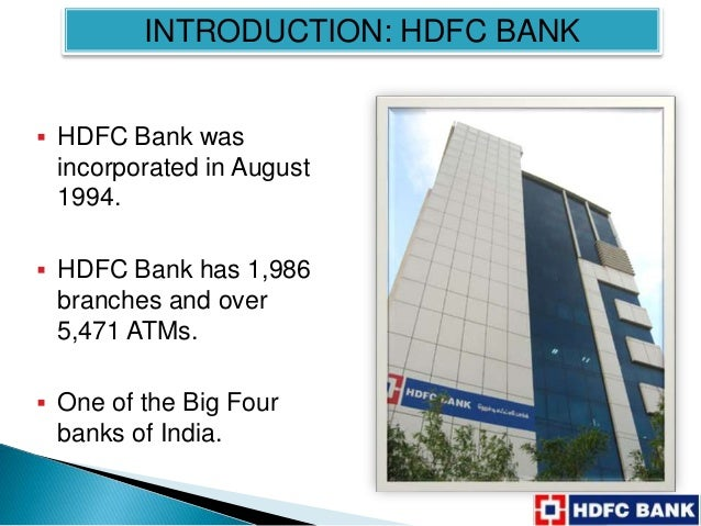 importance of crm for hdfc bank Company history - hdfc bank ltd 1994 - the bank was incorporated on 30th august a new private sector bank promoted by housing development corporation ltd (hdfc), a premier housing finance company.
