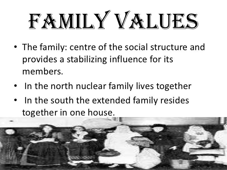 """an analysis of the family values in modern society Society's modern understanding of family rejects rigid """"stage"""" theories and is more accepting of new, fluid models in fact contemporary family life has not escaped the phenomenon that."""