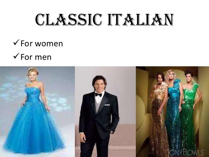 CLASSIC ITALIANFor womenFor men