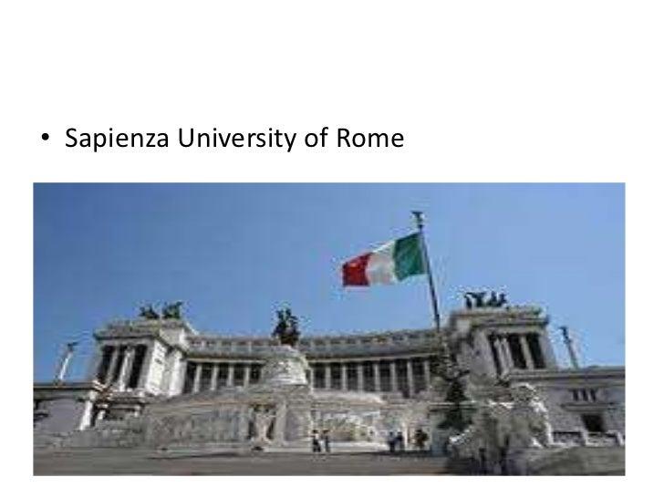 • Sapienza University of Rome