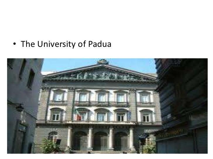 • The University of Padua
