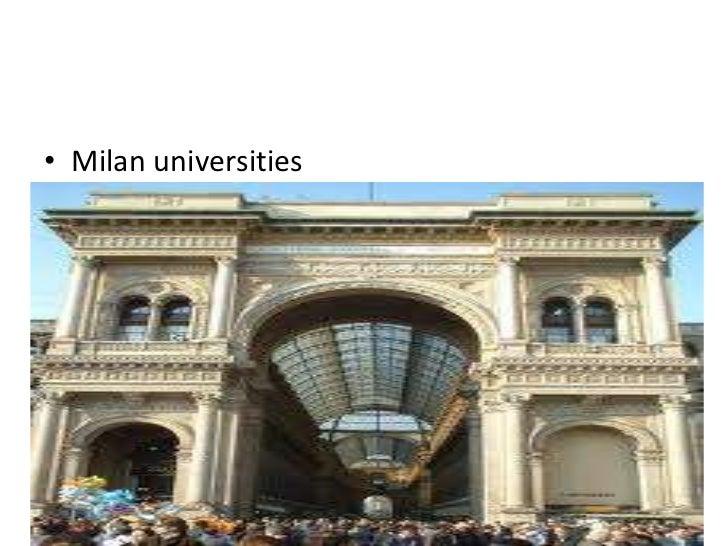 • Milan universities