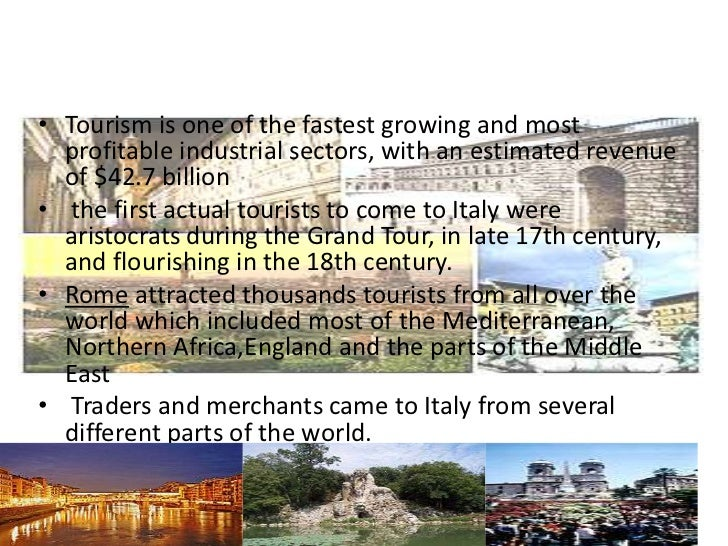 • Tourism is one of the fastest growing and most  profitable industrial sectors, with an estimated revenue  of $42.7 billi...