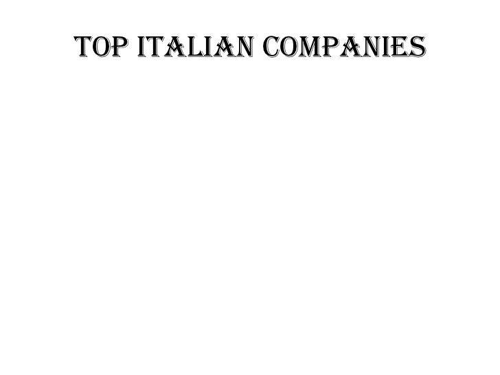 TOP ITALIAN COMPANIES
