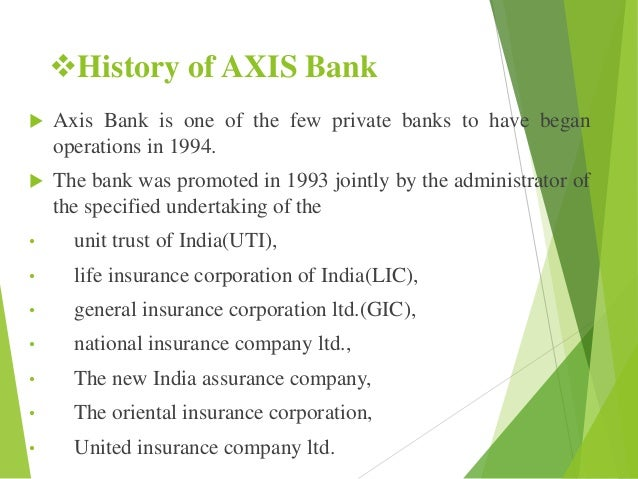 axis bank history details