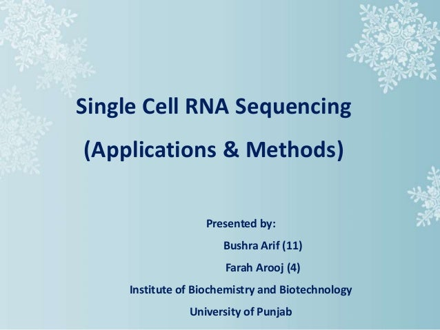 single cell rna sequencing  methods and applications