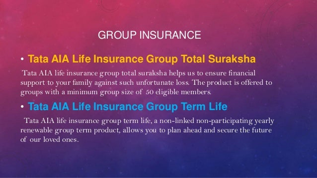 tata aig life insurance Learn about working at tata aig general insurance company limited join linkedin today for free see who you know at tata aig general insurance company limited, leverage your professional network, and get hired.