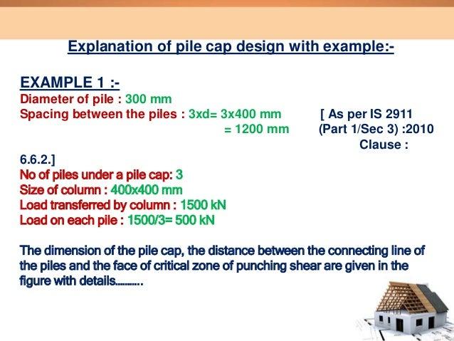 Design of pile cap
