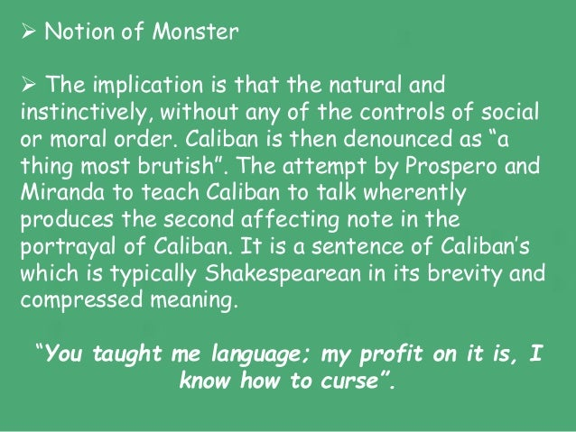 the tempest caliban and prospero relationship help