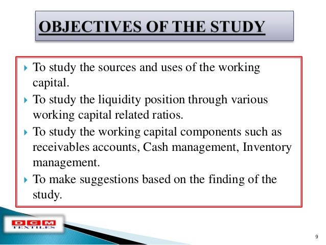 study on working capital management After running as a family business for over 100 years, when in late 1990s, the management of the dabur was handed over to a team of professional managers, the new.