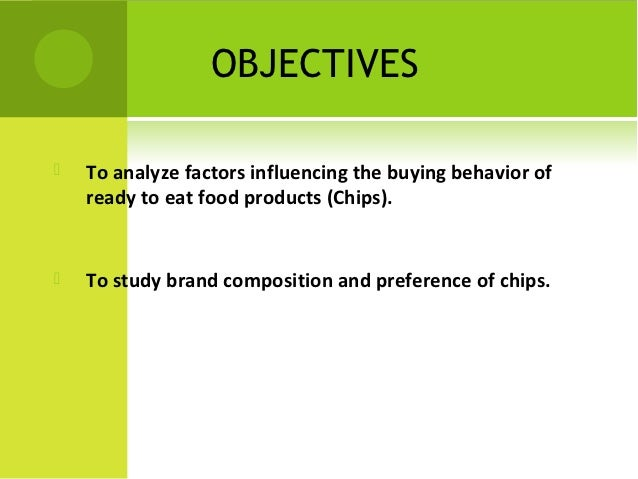 Dissertation on consumer buying behaviour towards ready to eat foods