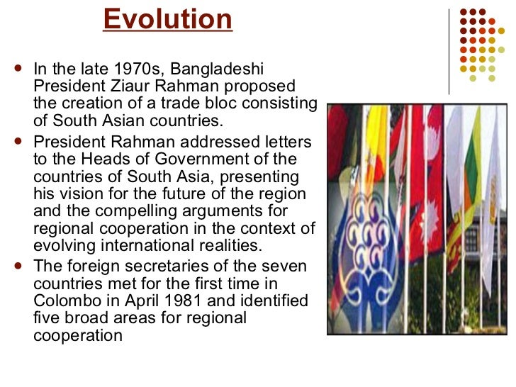 evolution of saarc