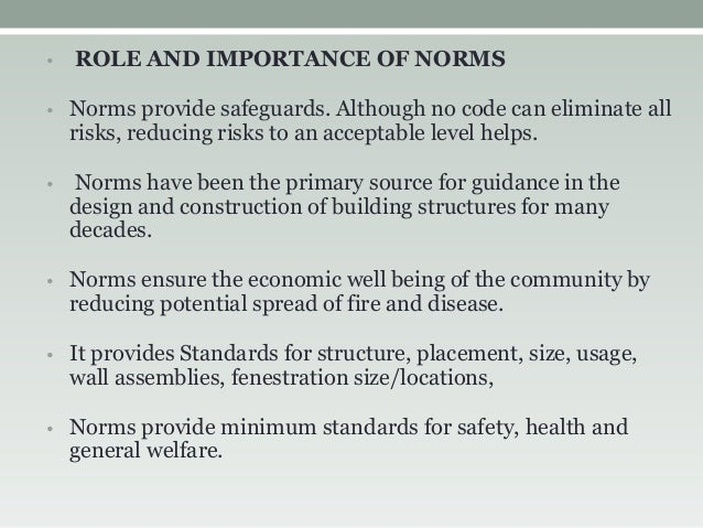 the importance of norms