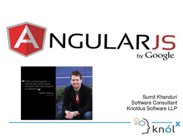 Sumit Khanduri Software Consultant Knoldus Software LLP