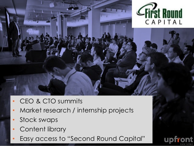 """• CEO & CTO summits • Market research / internship projects • Stock swaps • Content library • Easy access to """"Second ..."""
