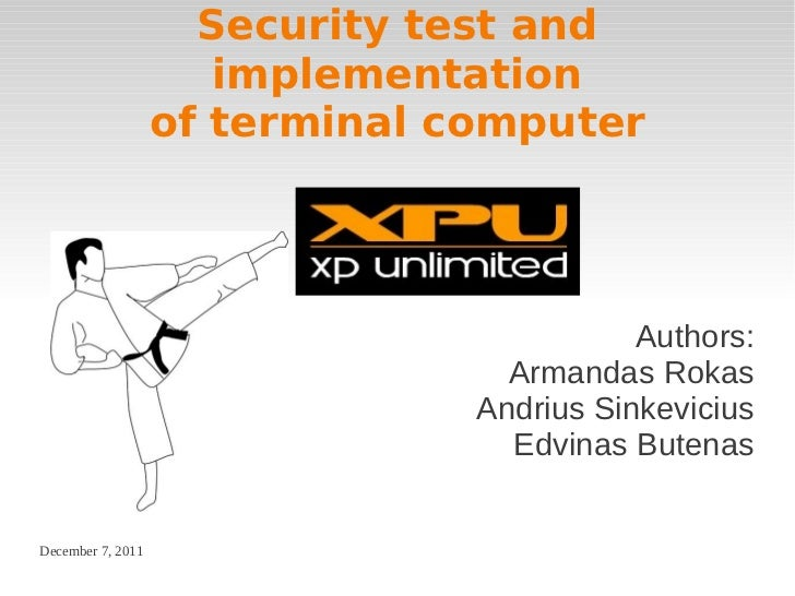 Security test and                      implementation                   of terminal computer                              ...