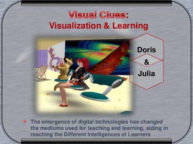 :Visualization & Learning The emergence of digital technologies has changedthe mediums used for teaching and learning, ai...