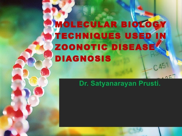 MOLECULAR BIOLOGY TECHNIQUES USED IN ZOONOTIC DISEASE  DIAGNOSIS Dr. Satyanarayan Prusti.
