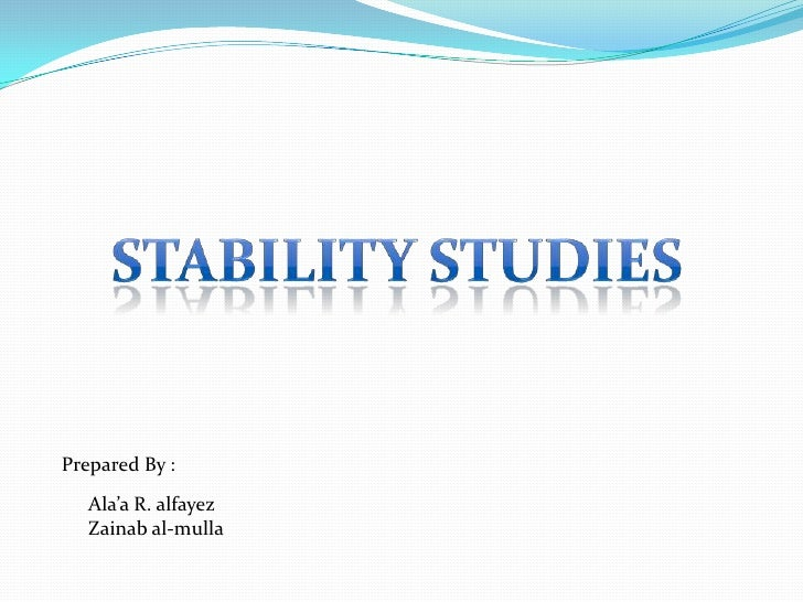 Stability Study - Pharmaceutical Guidance