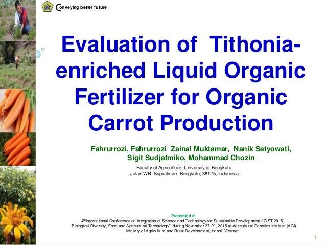 Evaluation of Tithonia-enriched Liquid Organic Fertilizer