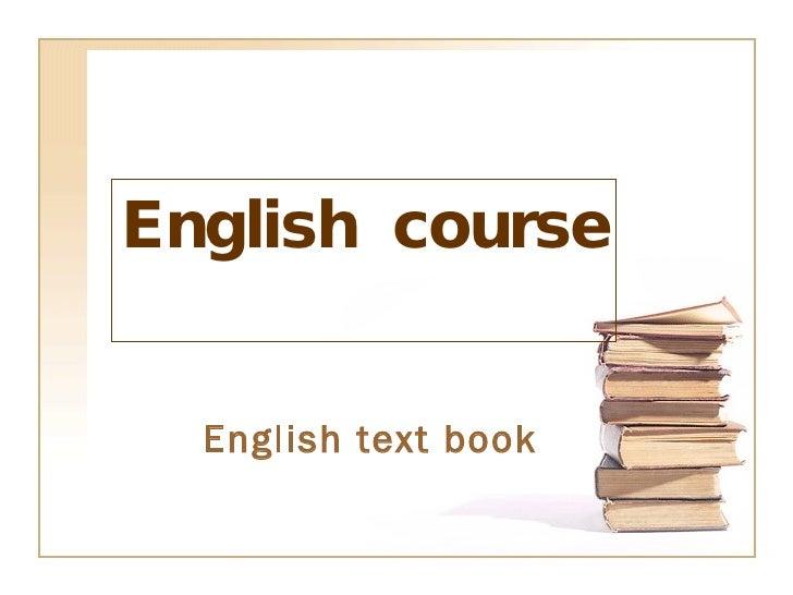English  course English text book