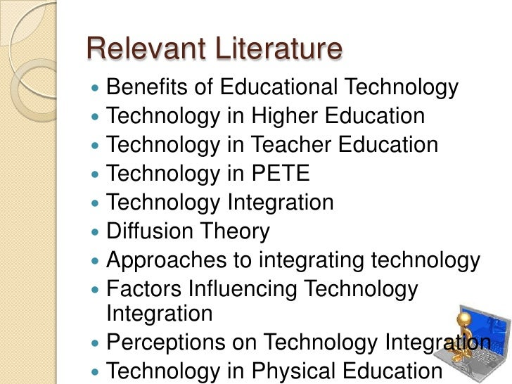 thesis of educational technology Technology is everywhere in education: public schools in the united states now provide at least one computer for every five students they spend more than $3 billion per year on digital content.