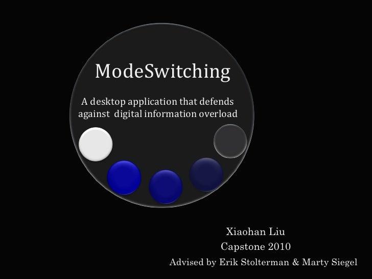 ModeSwitching  A desktop application that defends against digital information overload                                    ...