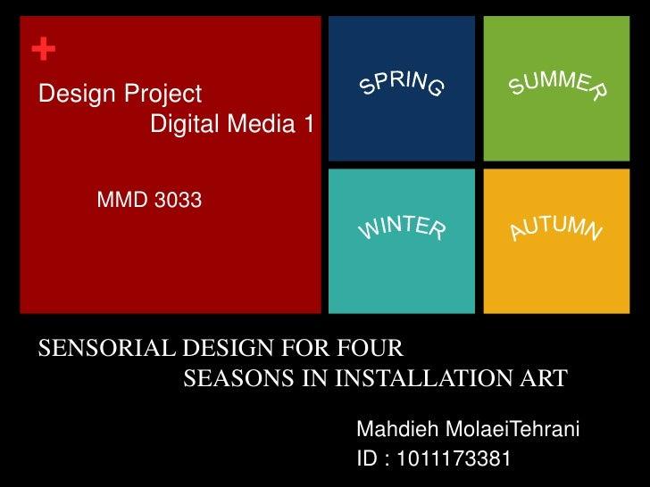 Design Project <br />                Digital Media 1<br />SPRING<br />SUMMER<br />MMD 3033<br />AUTUMN<br />WINTER<br />SE...