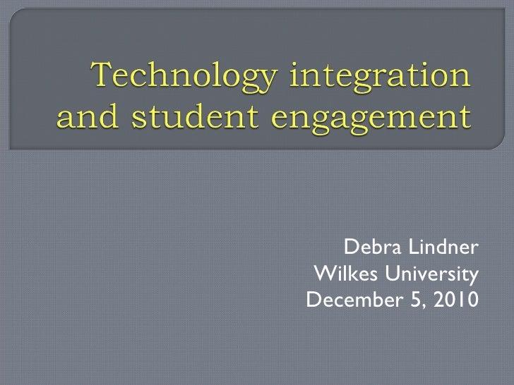Debra Lindner Wilkes University December 5, 2010