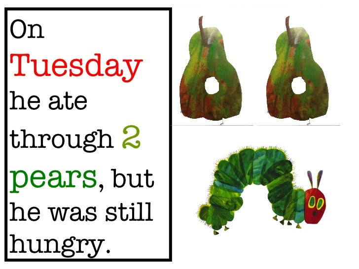 image relating to The Very Hungry Caterpillar Story Printable called The Amazingly Hungry Caterpillar
