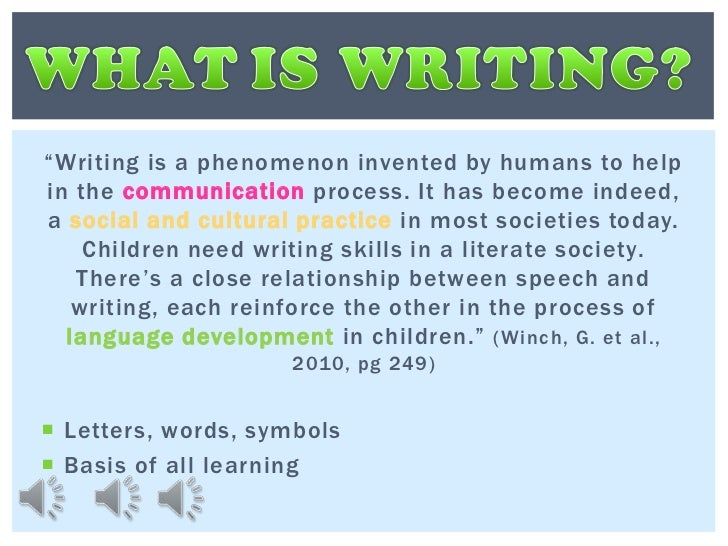 importance of writing skills in english