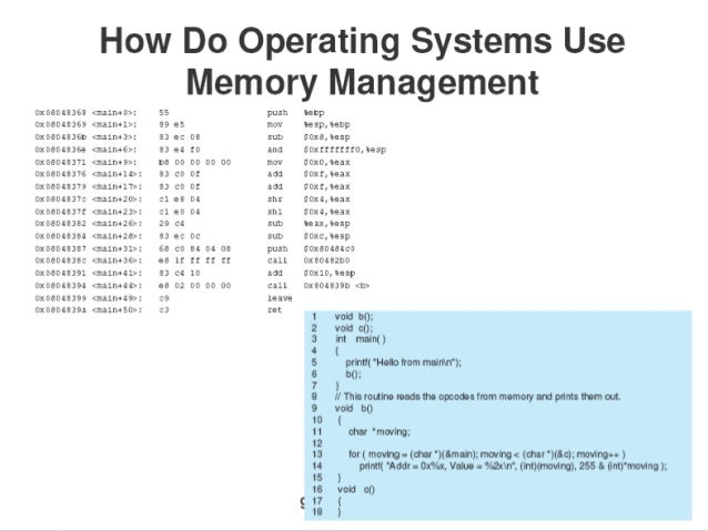 memory management in windows 10 operating system