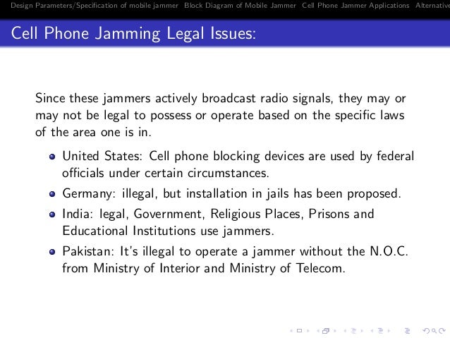 Phone jammers legal problems - phone jammers india palace