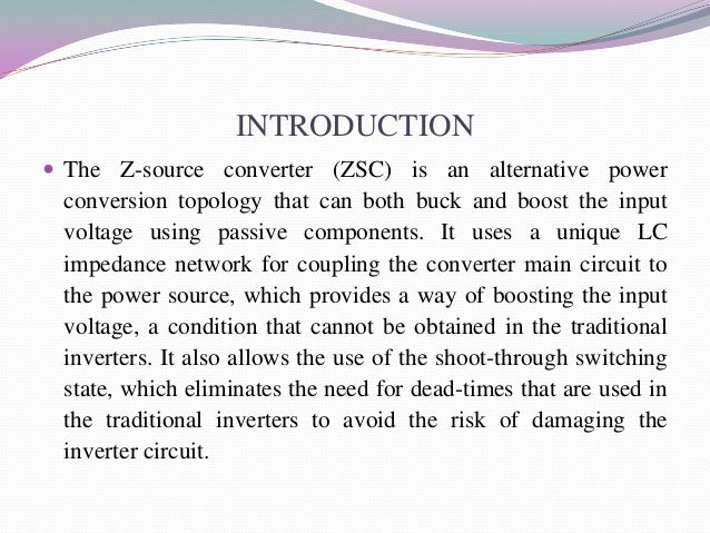 presentation on z source converter, wiring diagram