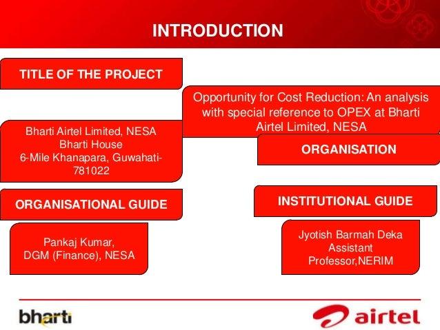 Bharti airtel financial analysis essay