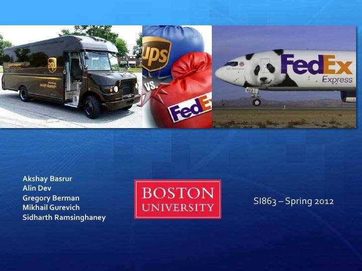 FedEx Vs. UPS Strategy Analysis
