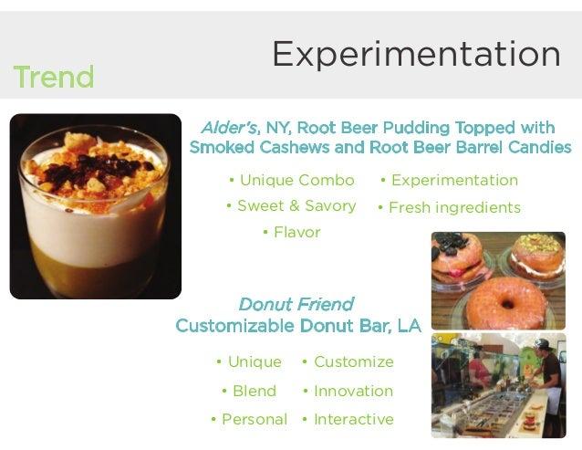 Experimentation Trend Donut Friend Customizable Donut Bar, LA • Unique • Blend • Personal • Customize • Innovation • Inter...