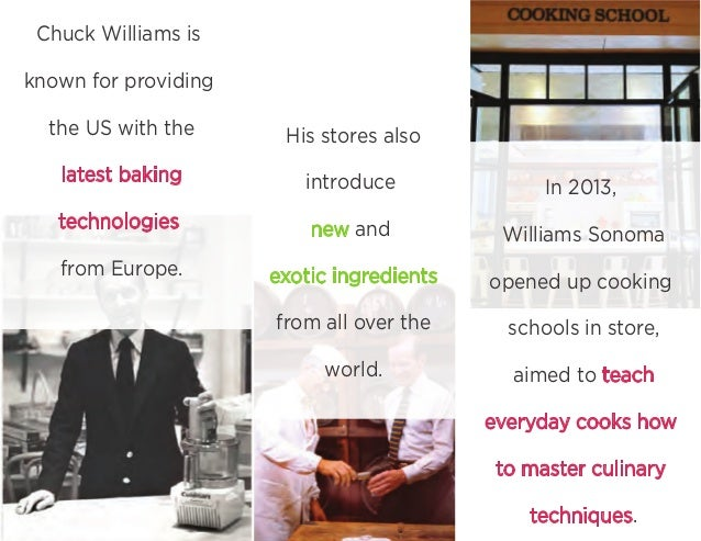 Chuck Williams is known for providing the US with the latest baking technologies from Europe. His stores also introduce ne...