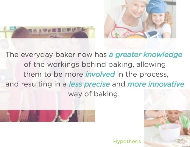 The everyday baker now has a greater knowledge of the workings behind baking, allowing them to be more involved in the pro...